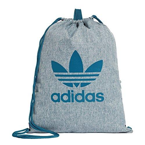 adidas Unisex-Erwachsene Gymsack Ess Rucksack, Blau (Azcere), 24x15x45 centimeters
