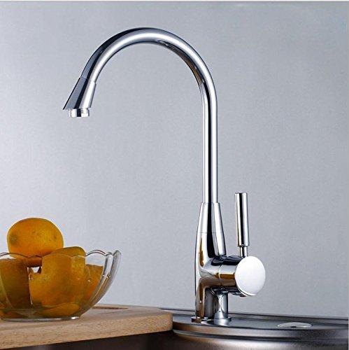 SBWYLT-Fusione di rame di alta qualità ruotare il rubinetto monoforo lavello rubinetto calda e (Fusioni Freddo Bronzo)