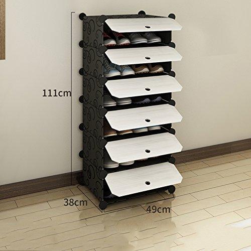 DW&HX Closet Zapatos,Zapateros para armarios de Suelo Multifunción Casa Dormitorio Multicapa Asamblea...