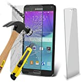 i-Tronixs (Pack de 3 Samsung Galaxy Note 5 Étui Housse trempé Premium Quality Screen Verre Crystal Clear Verre trempé Protecteurs SWITH Chiffon & Demande de Carte