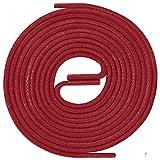 LACCICO Finest Waxed Laces Durchmesser 2 mm Runde Dünne Elegante Gewachste Schnürsenkel Farbe: Rot Länge: 75 cm