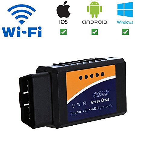 Wifi Obd-ii-scanner (Giveet Auto WiFi OBD2 scanner-wireless OBD 2 Scan Werkzeug Interface scanner-obdii Auto Code Reader motorkontrollleuchte Diagnosegerät für iOS, Android & Windows Geräte)