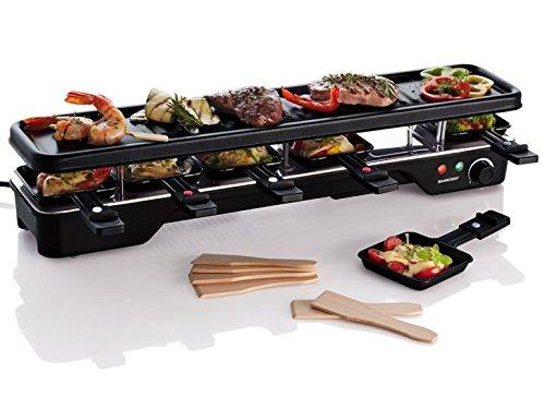 platzsparender Raclette Raclettegrill bis zu 6 Personen Teppan Yaki Grillfläche