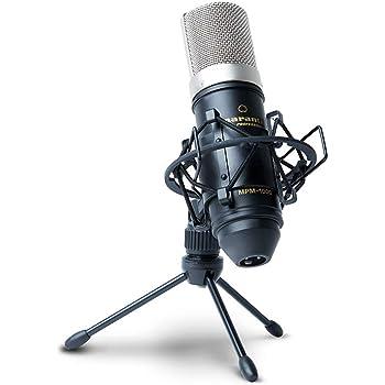 Marantz Professional MPM-1000, Microfono a Condensatore con Diaframma Largo, Spugna Antivento, Sospensione Elastica, Treppiede e Cavo XLR