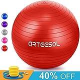 Купить Arteesol Gymnastikball, Balance Ball 45cm/55cm/65cm/75cm Yoga Ball mit Pumpe Anti-Burst Fitness Balance Ball für Core Strength