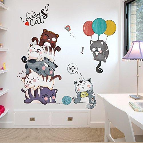 ny Kitty Tapete Wallpaper Zimmer Schlafzimmer Kinder Wand Dekoration Dekorationen Tapete Selbstklebend ()