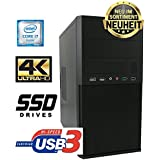 Master-PC Intel Core i7-7700 (Quad-Core) 4 x 3,60 GHz - Kaby Lake, 8 GB DDR4, 128 GB SSD SATA3, Intel HD 630 Grafik 4K, USB 3.1, HDMI, DVI, VGA, DVD-Brenner, Sound, Gigabit-Lan