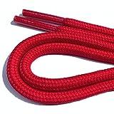 Schnürsenkel für Arbeitsschuhe und Trekkingschuhe, Rundsenkel (100 cm, rot)