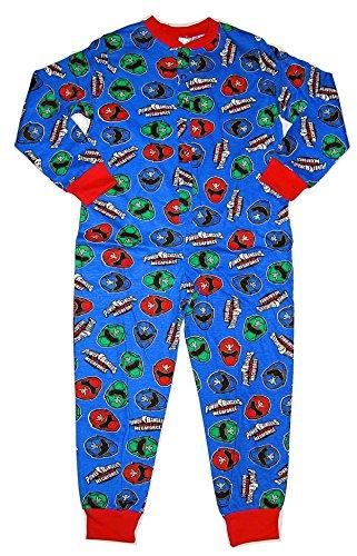 Image of Boys Power Rangers Super Megaforce Onesie All in One Pyjamas 4-5 to 9-10 Years (5-6 Years)