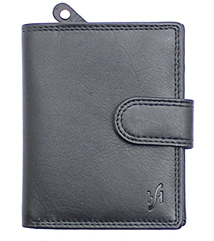STARHIDE MENS SOFT REAL LEATHER WALLET WITH ZIP AROUND COIN