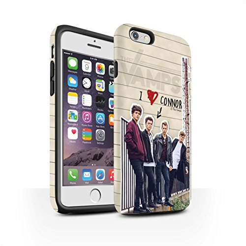 Offiziell The Vamps Hülle / Matte Harten Stoßfest Case für Apple iPhone 6S / Pack 5pcs Muster / The Vamps Geheimes Tagebuch Kollektion Connor