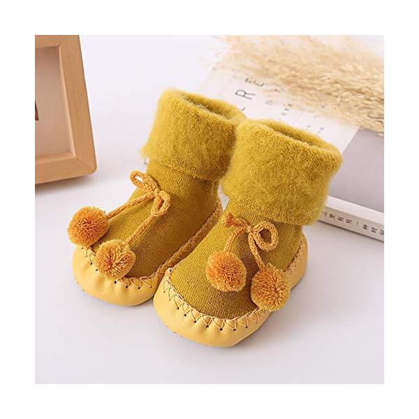 Calcetines Antideslizante Bebe Invierno K-youth Calcetines para Bebé Niñas Niños 0-24 Meses Espesar Zapatos Calcetines… 2