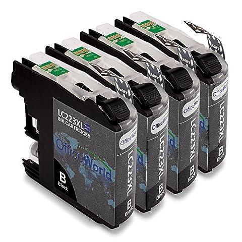 OfficeWorld Kompatible Brother LC223 Schwarz Druckerpatronen Hohe Kapazität Kompatibel für