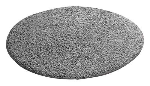 benuta Shaggy Hochflor Teppich Swirls Grau ø 80 cm rund | Langflor Teppich für Schlafzimmer und Wohnzimmer
