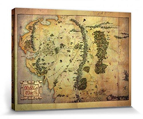 1art1® El Señor De Los Anillos - Mapa De La Tierra