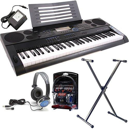 casio-ctk-6200-keyboard-with-westmount-quicklok-stand-includes-free-ac-adaptor-headphones-black