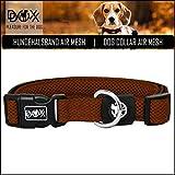 DDOXX Hundehalsband Air Mesh | für große & kleine Hunde | Katzenhalsband | Halsband | Halsbänder | Hundehalsbänder | Hund Katze Katzen Welpe Welpen | klein breit Leuchtend bunt | Braun, S