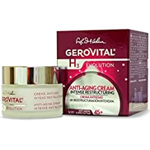 GEROVITAL H3 EVOLUTION, Anti-Aging Cream Intensive Restructuring With Superoxide Dismutase (The Anti-Aging Super Enzyme) 45+ (1.69 FL.OZ) by GEROVITAL H3 EVOLUTION
