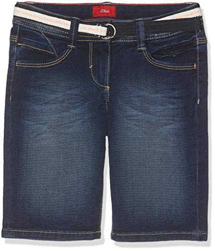 s.Oliver Mädchen 66.904.72.2045 Bermuda, Blau (Blue Denim Stretch 57z7), 140 (Herstellergröße: 140/REG) - Mädchen Bermuda Jean Short