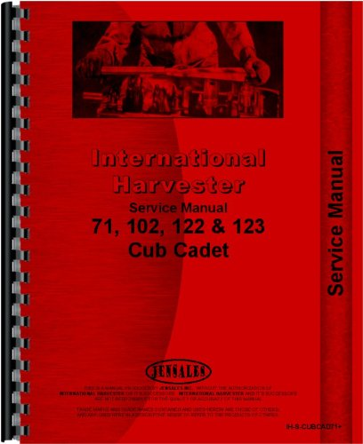 International Harvester Cub Cadet 123 Lawn & Garden Tractor Service Manual