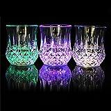 Induktive LED Tasse, bunt, induktive LED Wein Whisky Cup Flash Light Glas Cup Nachtlicht Tasse für Bar Party Getränke, Wie abgebildet, Einheitsgröße