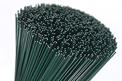"""(250x0.7) 250g green lacquered (300 Wires) 10"""" Florists Thin Stub Wire 22 Gauge : everything five pounds (or less!)"""