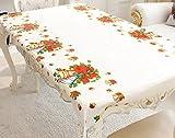 Manteles de Navidad, Panphy 2Pcs Mantel rectangular de PVC de Santa, fundas de mesa de fiesta de...
