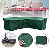 Abdeckung für Gartenmöbel L-Form, Premium Wasserdicht Sofa Abdeckung Rattan Möbel Schutz vor Staub und verlängert die Lebensdauer von Möbeln