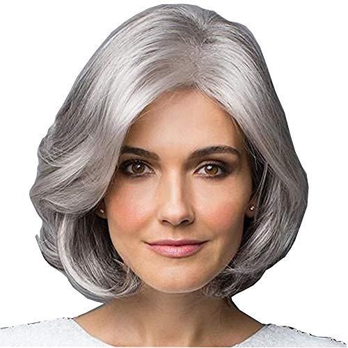 Kurze Perücke, Kurze Lockly Haar Silber Grau Kurze Haare Perücke, Chemische Faser Flauschig Kurze Perücke, Fashion Lady Short WIG
