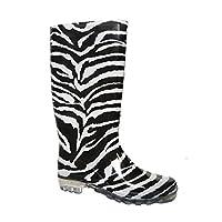 Ladies Zebra Wellington Boot-4