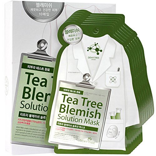 Dewytree Tea Tree Trouble Solution Mask 10pcs 27g by Dewytree