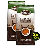 Minges Espresso GUSTO ROMA, ganze Bohnen 2x 1000g (2000g) - Feinster Kaffee Arabica
