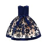 Vestito Bambine Principessa - ABCone Abito Sposa Floreale Principessa Festa  della Damigella d Onore Ragazze 49ae688931b8