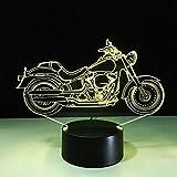 YDBDB Lampe 3d nuit de la moto s'allume multicolores ménage abajur led accessoires de bureau