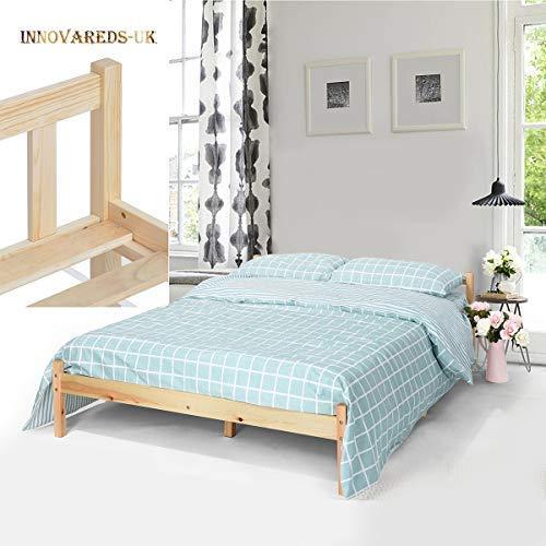 Estructura de la cama de pino macizo natural, resistente, color original