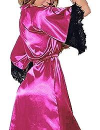 Pijamas Mujer Sexy Lanskirt Mujeres Verano Ropa Interior Atractiva del CordóN del CordóN Ropa de Dormir Bata de Ropa Interior Vestidos de…