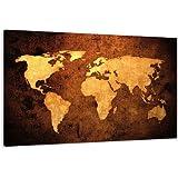 120 x 80 cm cuadro en lienzo mapamundi 5162-SCT – imagen / impresion / pintura listo para colgar