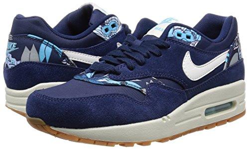 Nike Air Max 1 Print, Damen Sneakers, Blau - 5