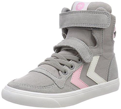 (Hummel Unisex-Kinder Slimmer Stadil High JR Hohe Sneaker, Grau (Alloy), 31 EU)