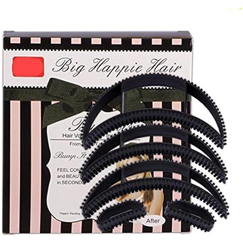 XYXY DIY pezzo plastica pad capelli soffici principessa testa aumentato strumenti per dispositivo Puff incolla lo styling dei capelli (confezione da 10)
