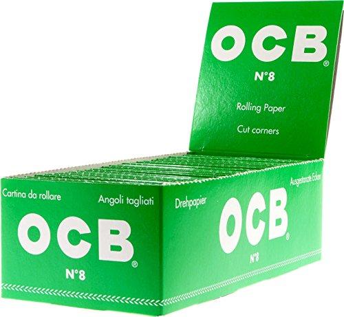 Preisvergleich Produktbild OCB 15569 No 8, kurzes Papier, 50 Heftchen a 50 Blatt, grün
