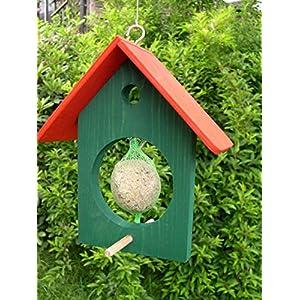 Futterhaus Meisenfutter Meisenknödel Haus grün/rot