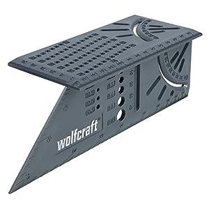Wolfcraft 5208000 Squadra Tridimensionale, Grigio, 212 x 62 x 74 mm 51vSQA XcjL. SS300