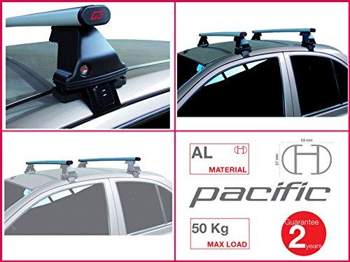Proposteonline portabagagli Barre Tetto Auto portatutto per Smart forfour 2014 > Alluminio 1,27 m lc97cb