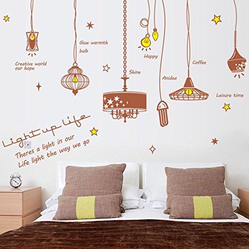 EWQHD Tombantes Lampe Amovible Salon Chambre Meubles Décor Cabinet Art Mural Vinyle Bricolage Stickers Muraux Decal Poster