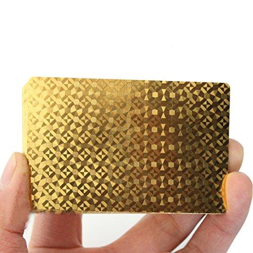 Tinksky Cool Lattice Zurück Kunststoff Wasserdicht Poker Spielkarten (gold)