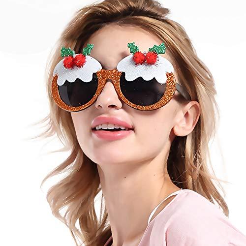 Unbekannt Neue Weihnachten Rahmen Gläser Ornamente Brillen Kostüm Auge Rahmen Weihnachten Geschenke Neue Jahr Party Dekoration
