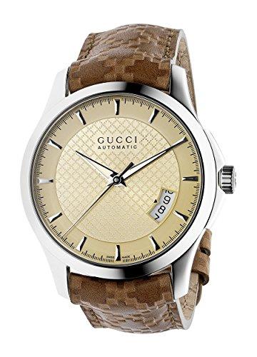 Gucci  G TIMELESS - Reloj de automático para hombre, con correa de cuero, color marrón