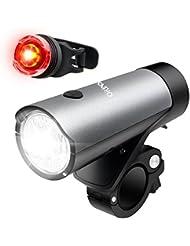 Lumière de Vélo, Orinsong Vélo LED Ensemble de Lumière, 500 Lumens USB Rechargeable Phare et un Feux Arrière de Vélo avec 2600mAh Batterie au Lithium