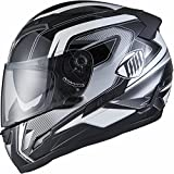 THH ts-80# 6Full Face Motorrad Helm XL Schwarz/Silber
